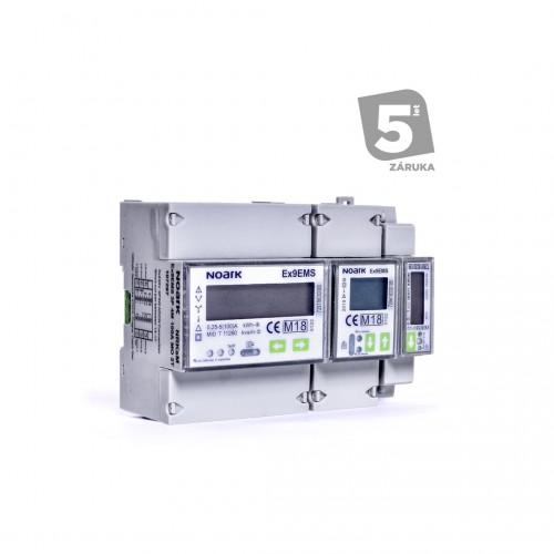Smart Elektroměr 3P, 4M, 100 A, ModBus-komunikace, 2-tarifní, LCD displej
