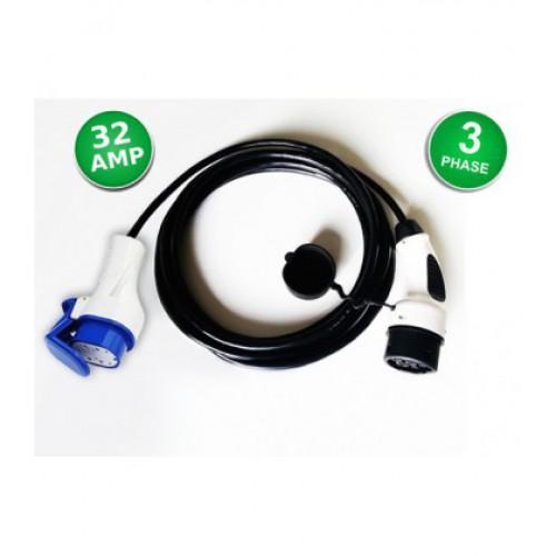 """Přenosný nabíjecí kabel pro nabíjecí stanice Typ 2 - Typ 3C """"Scame"""" - 3x32A / 22kW"""
